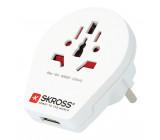 Cestovní Adaptér Svět na Evropa USB Zemněný