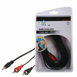 Kabel jack 3.5 - 2x cinch 10m - blistr