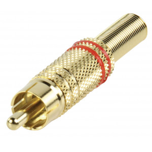 RCA plug gold metal red