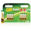 Baterie 1.5v lr03,aaa alkalická gp super alkaline - 8ks