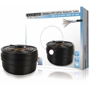 Kabel ftp cat5e drát, venkovní - 100m
