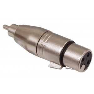 3p XLR female - RCA male adapter
