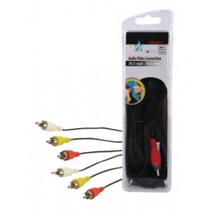 Kabel 3x cinch - 3x cinch 5m - blistr