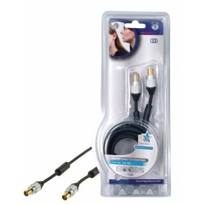 Účast tv kabel 1.5m m/m - 90db - profi