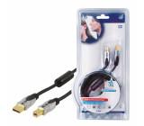 Kabel usb 2.0 - a <lt/>-<gt/> b - 2.5m - profi