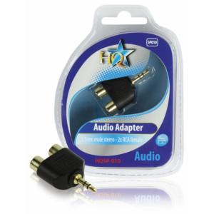 HQ - AUDIOADAPTER 3.5mm HANE STEREO - 2x RCA HONA