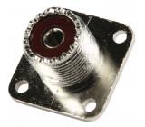 Konektor UHF Zásuvka Kov Stříbrná