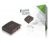 HDMI Převodník HDMI Vstup - VGA Zásuvka + 2x RCA Zásuvka