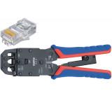 Krimpovací pákové kleště pro zástrčky Western Konektor Western RJ10 (4-pin) 7.65 mm, RJ11/12 (6-pin) 9.65 mm, RJ45 (8-pin) 11.68 mm