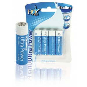 BATERIE 1.5V LR06,AA alkalická HQ Ultra Power - 4ks