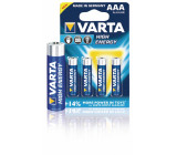 Baterie 1.5v lr03, aaa high energy 4ks - varta