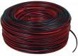 Kabel repro 2x0.35mm - černý/červený 100m klubo