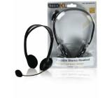 Stereo headset, černý