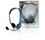 Stereo headset, modrý