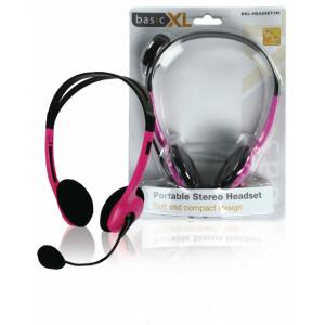 Stereo headset, růžový