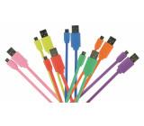 Kabel USB 2.0, zástrčka A - zástrčka micro B, 1,00 m černý