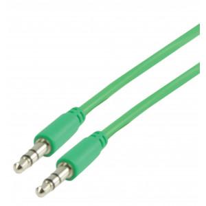 3.5 mm stereo audio kabel 1.00 m, zelený