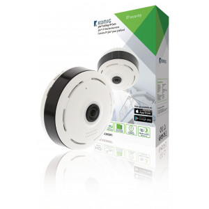 HD IP kamera 1280x960 Panorama Bílá/Černá