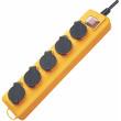 Prodlužovací Přívod Super-Solid 5cestný 2.00 m Žlutá - Ochranný Kontakt