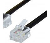Telefonní Kabel RJ11 (6P4C) Zástrčka - RJ45 (8P4C) Zástrčka 5.00 m Černá