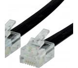 Telefonní Kabel RJ12 (6P6C) Zástrčka - RJ12 (6P6C) Zástrčka 3.00 m Černá