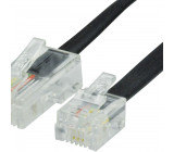 Telefonní Kabel RJ12 (6P6C) Zástrčka - RJ45 (8P6C) Zástrčka 10.0 m Černá