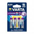 Lithiová Baterie AAA 4-Blistr