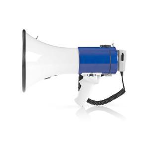 Megafon   25 W   Dosah 1 500 m   Odpojitelný Mikrofon   Bílá / Modrá