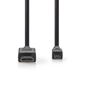 Kabel High Speed HDMI™ s Ethernetem | Konektor HDMI™ - HDMI™ Micro Konektor | 1,5 m | Černá barva