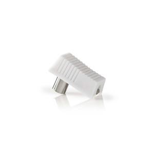 IEC (Koaxiální) Konektor | Zástrčka + Zásuvka - Úhlový | 2 kusů | Bílá barva