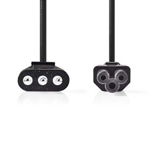 Napájecí Kabel | Zástrčka Typu L (IT) - IEC-320-C5 | 2 m | Černá barva
