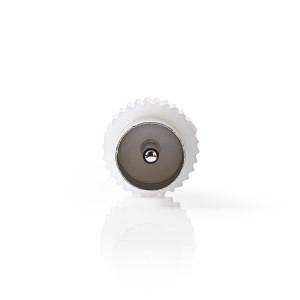 Koaxiální Adaptér | IEC (Koaxiální) Zástrčka - IEC (Koaxiální) Zástrčka | Bílá barva