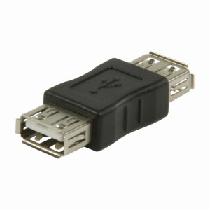 USB 2.0 Adaptér   A Zásuvka - A Zásuvka   Černá barva