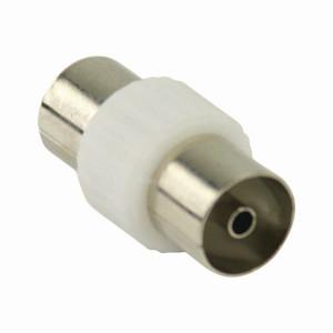 Koaxiální Adaptér | IEC (Koaxiální) Zásuvka - IEC (Koaxiální) Zásuvka | Bílá barva