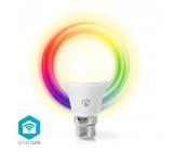 WiFi Chytrá LED Žárovka | Barevná a Teplá Bílá | B22