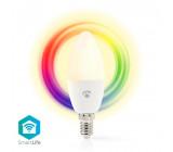 WiFi Chytrá LED Žárovka | Barevná a Teplá Bílá | E14