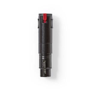 XLR Stereofonní Adaptér | XLR 3pinová Zásuvka – 6,3mm Zásuvka | Černá barva