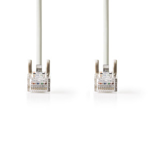 Síťový Kabel Cat 5e UTP   RJ45 (8P8C) Zástrčka – RJ45 (8P8C) Zástrčka   2 m   Šedá barva