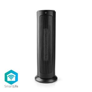 Chytrý Wi-Fi Sloupový Ventilátor s Topným Tělesem | Termostat | 1 200 a 2 000 W | Černý