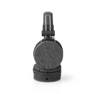 Bluetooth® Sluchátka s Látkovým Povrchem | Na Uši | Výdrž Baterie 18 Hodin | Antracitové/Černé