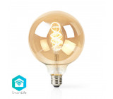 Wi-Fi Chytrá LED Žárovka s Vláknem od Teplé až po Studenou Bílou | Kroucená | E27 | G125 | 5,5 W | 350 lm