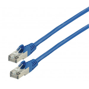 Patch kabel FTP CAT 6a, 10 m, modrý