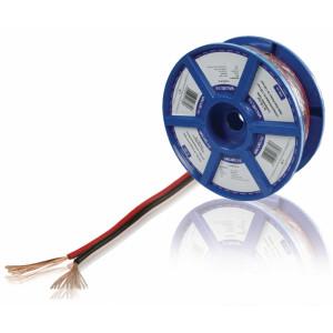 Černý/červený reproduktorový kabel 2x 1.50 mm² 100 m