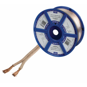 Transparentní reproduktorový kabel 2x 2.50 mm² 100 m