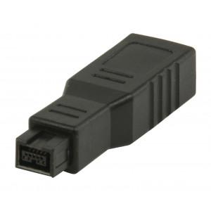FireWire adaptér 6-pin zásuvka na 9-pin zástrčka