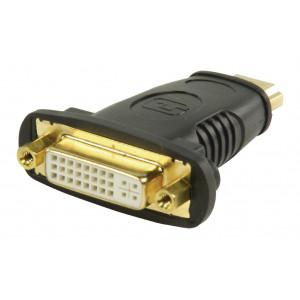 HDMI adaptér s konektory HDMI – DVI zásuvka, černý