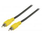 Kompozitní video kabel s konektory RCA zástrčka – RCA zástrčka 1,00 m černý