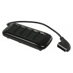 SCART rozbočovač, zástrčka SCART – 5× zásuvka SCART, 0,50 m, černý