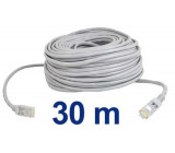 UTP kabel Patch RJ45 30m šedý cat5