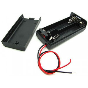 Držák baterie 2xR6/AA/UM3 s víčkem a vypínačem ON-OFF